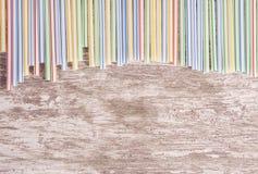 αφηρημένα ζωηρόχρωμα πλαστικά άχυρα bacground Στοκ εικόνες με δικαίωμα ελεύθερης χρήσης