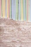 αφηρημένα ζωηρόχρωμα πλαστικά άχυρα bacground Στοκ Εικόνες