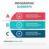 Αφηρημένα ζωηρόχρωμα στοιχεία επιχειρησιακού Infographics εμβλημάτων καμπυλών, παρουσίασης διανυσματική απεικόνιση σχεδίου προτύπ Στοκ Εικόνες