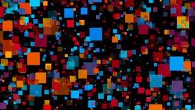 αφηρημένα ζωηρόχρωμα τετράγωνα Ψηφιακή απεικόνιση Στοκ φωτογραφία με δικαίωμα ελεύθερης χρήσης