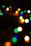Αφηρημένα ζωηρόχρωμα φω'τα Χριστουγέννων. Στοκ Εικόνες