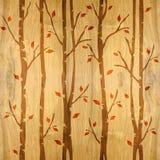 Αφηρημένα διακοσμητικά δέντρα - άνευ ραφής υπόβαθρο - ξύλινη σύσταση Στοκ Εικόνες