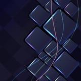 Αφηρημένα διανυσματικά υπόβαθρα με τις γραμμές φω'των Στοκ Εικόνα