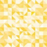 Αφηρημένα κίτρινα τρίγωνο και τετράγωνο στο κίτρινο ή άσπρο ελαφρύ κτύπημα χρώματος Στοκ Φωτογραφία