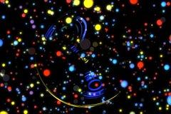 Αφηρημένα καμμένος μόρια υποβάθρου εικόνας Στοκ φωτογραφία με δικαίωμα ελεύθερης χρήσης