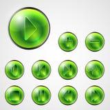 Αφηρημένα κουμπιά μέσων απεικόνιση αποθεμάτων