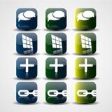 Αφηρημένα κουμπιά μέσων διανυσματική απεικόνιση