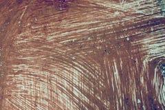 Αφηρημένα κτυπήματα βουρτσών με το χρώμα Στοκ Φωτογραφίες
