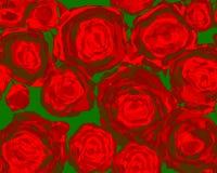 αφηρημένα κόκκινα τριαντάφυλλα διανυσματική απεικόνιση