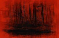 αφηρημένα κόκκινα fores horor Στοκ φωτογραφίες με δικαίωμα ελεύθερης χρήσης