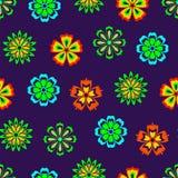 Αφηρημένα λουλούδια άνευ ραφής Στοκ Φωτογραφία