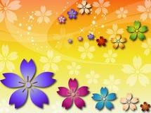 αφηρημένα λουλούδια ανα&si Στοκ εικόνες με δικαίωμα ελεύθερης χρήσης