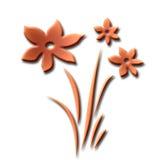 αφηρημένα λουλούδια μωβ Στοκ Εικόνες