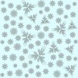 Αφηρημένα λουλούδια σε μια ελαφριά διανυσματική απεικόνιση υποβάθρου για το σχέδιό σας Στοκ Εικόνα