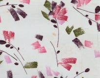 Αφηρημένα λουλούδια σχεδίων στο λευκό Στοκ Εικόνα
