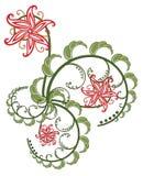 αφηρημένα λουλούδια Στοκ Εικόνα