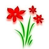αφηρημένα λουλούδια ded Στοκ Εικόνα