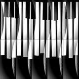 Αφηρημένα μουσικά κλειδιά πιάνων - άνευ ραφής υπόβαθρο - μονοχρωματικό β ελεύθερη απεικόνιση δικαιώματος