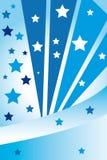 Αφηρημένα μπλε αστέρια Στοκ Φωτογραφίες