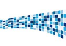 αφηρημένα μπλε κεραμίδια Στοκ Εικόνα