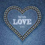 αφηρημένα μπλε τζιν καρδιών απεικόνιση αποθεμάτων