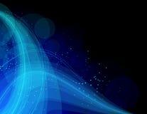 αφηρημένα μπλε φωτεινά κύμα&ta Ελεύθερη απεικόνιση δικαιώματος