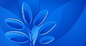 αφηρημένα μπλε φύλλα ανασ&kap Στοκ φωτογραφία με δικαίωμα ελεύθερης χρήσης