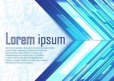 Αφηρημένα μπλε άσπρα βέλη με το φως διανυσματική απεικόνιση