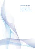αφηρημένα μπλε κύματα Στοκ Φωτογραφίες