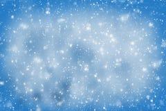 αφηρημένα μπλε snowflakes ανασκόπησης Στοκ Εικόνες