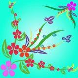 αφηρημένα λουλούδια ανασκόπησης Στοκ εικόνα με δικαίωμα ελεύθερης χρήσης