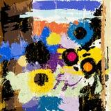 Αφηρημένα λουλούδια, κτυπήματα, παφλασμοί Στοκ Εικόνες