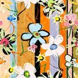 Αφηρημένα λουλούδια, κτυπήματα, παφλασμοί Στοκ εικόνες με δικαίωμα ελεύθερης χρήσης