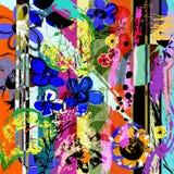 Αφηρημένα λουλούδια, κτυπήματα, παφλασμοί Στοκ φωτογραφία με δικαίωμα ελεύθερης χρήσης