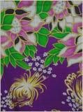 Αφηρημένα λουλούδια μπατίκ στο πλεκτό ύφος Στοκ εικόνα με δικαίωμα ελεύθερης χρήσης