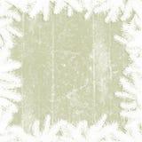 Αφηρημένα παλαιά έγγραφο και πλαίσιο κλαδίσκων - χειμερινό υπόβαθρο Στοκ εικόνα με δικαίωμα ελεύθερης χρήσης