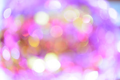 Αφηρημένα πολύχρωμα φω'τα bokeh Στοκ Φωτογραφίες