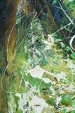 Αφηρημένα πράσινα άσπρα κτυπήματα βουρτσών, οργανικό υφαντικό υπνωτικό υπόβαθρο Στοκ Φωτογραφία