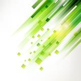 Αφηρημένα πράσινα γεωμετρικά στοιχεία γωνιών Στοκ Εικόνες