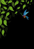 αφηρημένα πράσινα φύλλα ανα&si Στοκ φωτογραφία με δικαίωμα ελεύθερης χρήσης