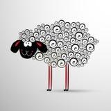 Αφηρημένα πρόβατα Στοιχείο για το σχέδιο του νέου έτους Στοκ φωτογραφίες με δικαίωμα ελεύθερης χρήσης