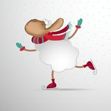 Αφηρημένα πρόβατα Στοιχείο για το σχέδιο του νέου έτους Στοκ Εικόνες