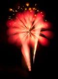 Αφηρημένα πυροτεχνήματα στο νυχτερινό ουρανό Στοκ εικόνες με δικαίωμα ελεύθερης χρήσης