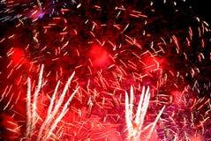 αφηρημένα πυροτεχνήματα Στοκ εικόνες με δικαίωμα ελεύθερης χρήσης