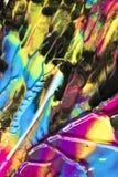 Αφηρημένα ραβδώσεις και σημάδια χρωμάτων στο μαύρο υπόβαθρο Στοκ Φωτογραφία