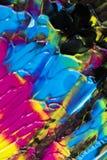 Αφηρημένα ραβδώσεις και σημάδια χρωμάτων στο μαύρο υπόβαθρο Στοκ Εικόνες