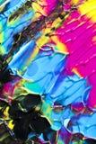 Αφηρημένα ραβδώσεις και σημάδια χρωμάτων στο μαύρο υπόβαθρο Στοκ εικόνα με δικαίωμα ελεύθερης χρήσης