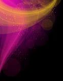 αφηρημένα ρόδινα κύματα κίτρ&iota Απεικόνιση αποθεμάτων