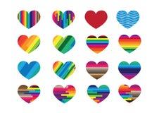 Αφηρημένα σημάδια εικονιδίων καρδιών διανυσματική απεικόνιση
