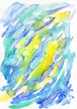 Αφηρημένα σημεία Watercolor στο Σκανδιναβικό ύφος Στοκ εικόνες με δικαίωμα ελεύθερης χρήσης